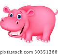 Cute hippo cartoon 30351366