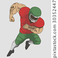 American FootBall Player Vector design 30352447