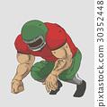 American FootBall Player Vector design 30352448