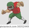 American FootBall Player Vector design 30352449