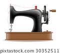 sewing machine old retro vintage icon stock vector 30352511