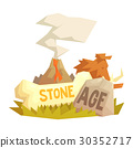 Stone age elements, volcanic eruption, mammoth 30352717