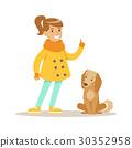 dog girl vector 30352958