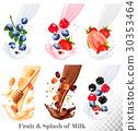 milk, vector, set 30353464