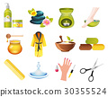 Beauty and Spa Relax Icons 30355524