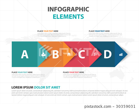 colorful arrow business Infographics elements 30359031