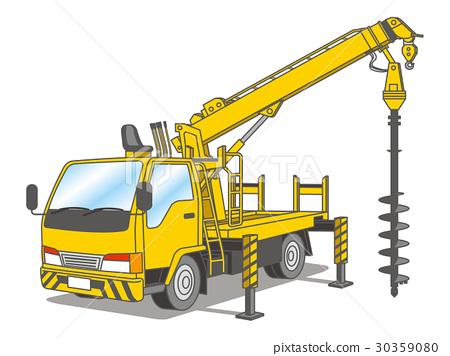 Pit excavated car (pole setter) 30359080