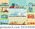 City life info graphics with industrial 30359998