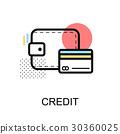 Credit Card Graphic Icon.Vector Illustration 30360025