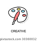 Creative Graphic Icon.Vector Illustration 30360032