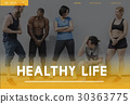Wellbeing Fitness Healthy Lifestyle Icon 30363775