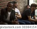 Adult Men Sit Together Friendship 30364154