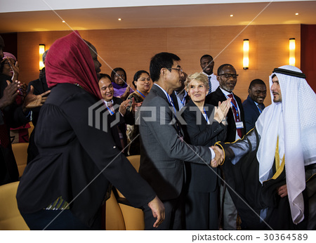 Hands Shake Agreement Diversity Conference Partnership 30364589