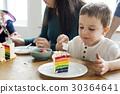 Eating Rainbow Cake Birthday Delicious 30364641