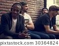 Adult Men Sit Together Friendship 30364824