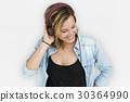 Caucasian Lady Embarassed Studio Concept 30364990