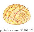 melon, bread, danish 30366821