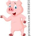 pig, cartoon, pink 30366850