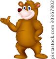 Cute brown bear presenting 30367802