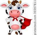 奶牛 卡通 向量 30367811