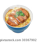猪排盖饭 猪排饭 裹面包屑猪肉饭 30367902