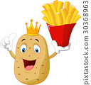 King chef potato holding a french fries 30368963