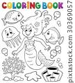 coloring, book, mermaid 30369057