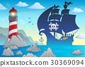 海盜 船 剪影 30369094