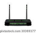 real 3d adsl wifi router on a white background 30369377
