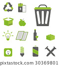 Recycling nature icons waste sorting environment 30369801
