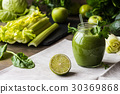 Detox diet. Green smoothie with vegetables 30369868