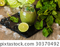 Detox diet. Green smoothie with fruits 30370492