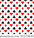 Seamless pattern background of poker suits - 30370640