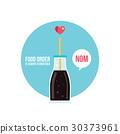 vector cola bottle 30373961