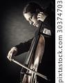 violoncello, cello, male 30374703