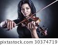 바이올린, 여자, 여성 30374719