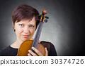 바이올린, 여자, 여성 30374726