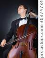 violoncello, cello, male 30374734