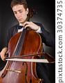 violoncello, cello, male 30374735