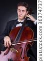 violoncello, cello, male 30374737