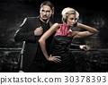 elegant couple in the nightclub 30378393
