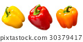 Sweet pepper isolated on white 30379417