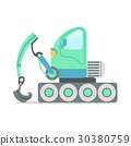 挖掘机 绿色 矢量 30380759