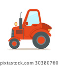 tractor, machinery, red 30380760