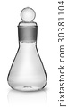 Old laboratory flask with ground glass stopper 30381104