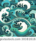 marine seamless pattern with water waves 30381616