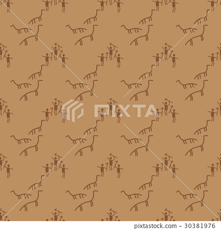 Old paper texture manuscript seamless pattern - Stock Illustration ...