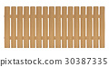 real wooden fence vector on a white background 30387335