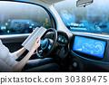 自动驾驶汽车的驾驶员座椅 30389475