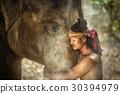 大象 丛林 肖像 30394979